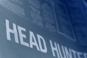 Head hunter words on a background