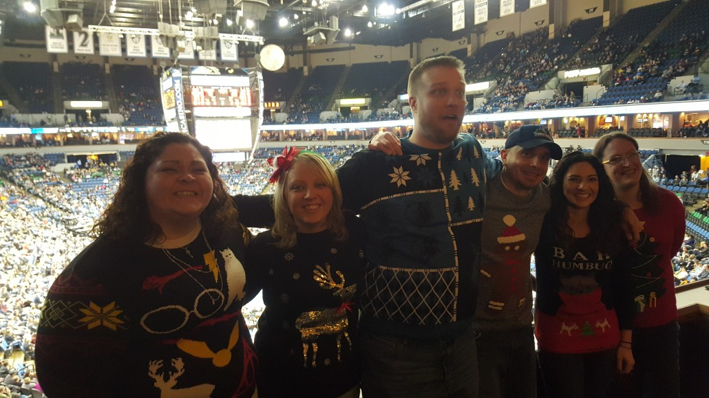 Search Leaders staff in Christmas Sweaters