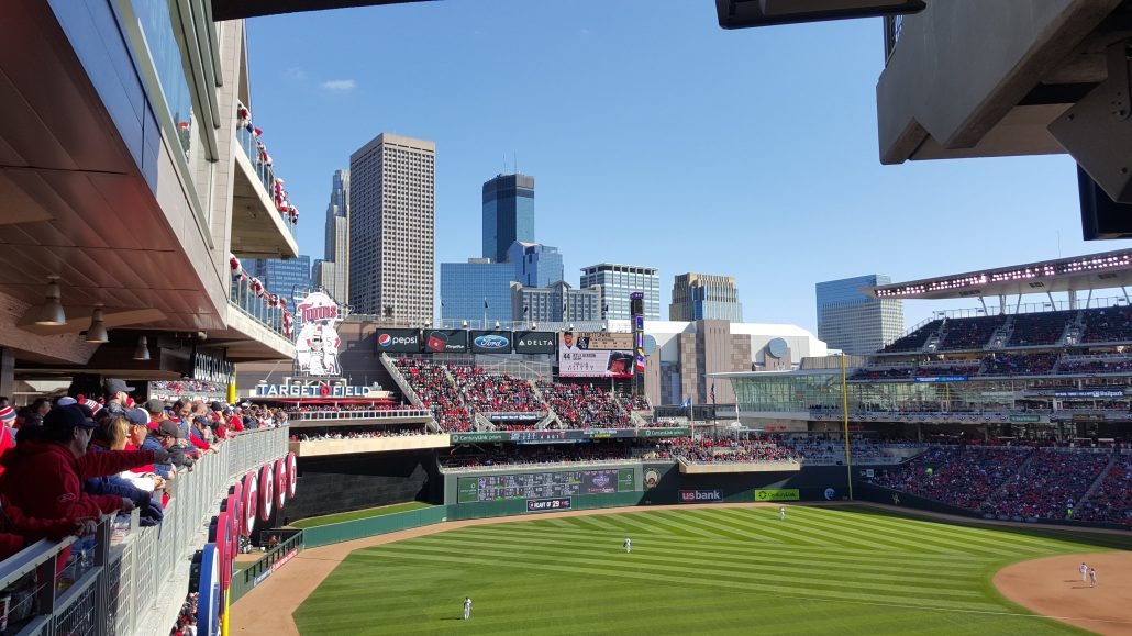 MN Twins Baseball Field with Fans