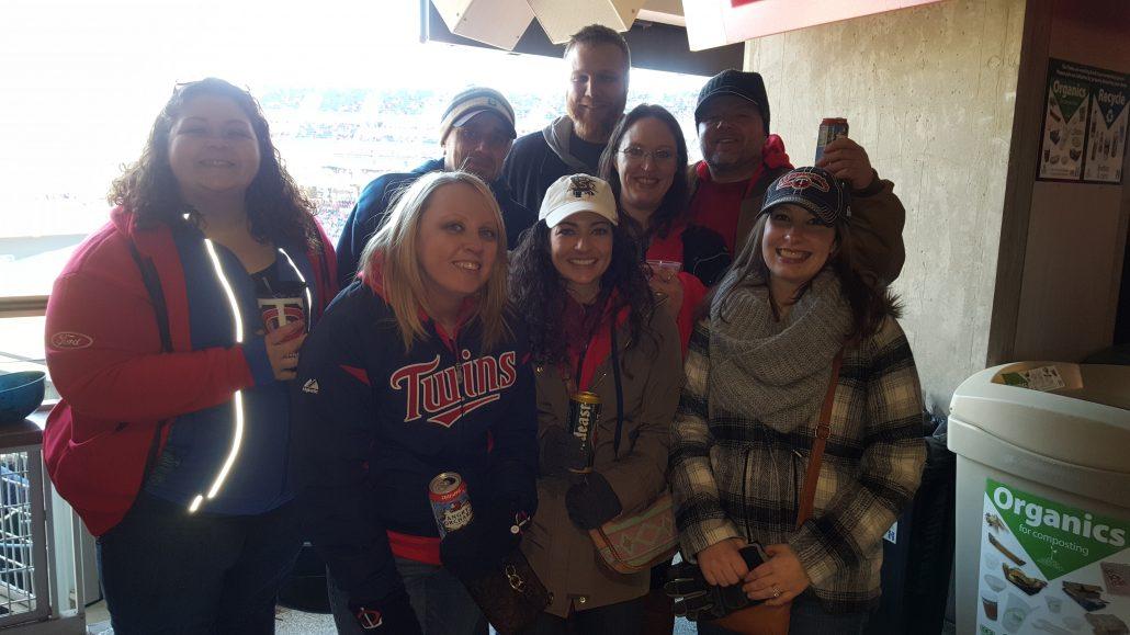 Search Leaders staff at MN Twins Baseball Field